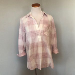 Express Pink and White Button Down